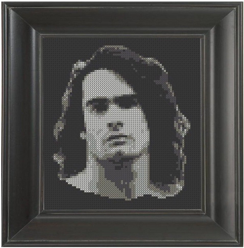 Henry Rollins B/W - Cross Stitch Pattern Chart