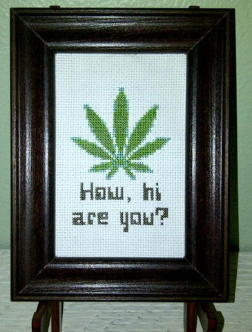 How, Hi Are You? - Cross Stitch Pattern Chart