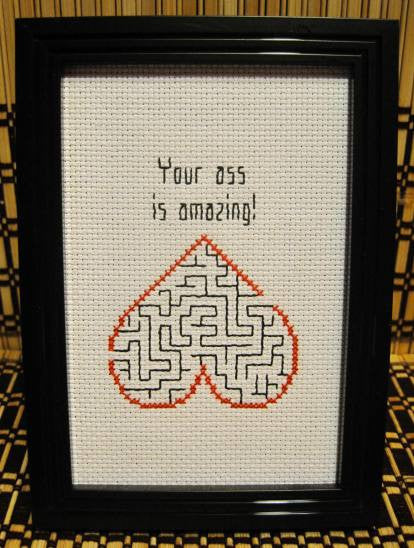 Amazing Ass - Cross Stitch Pattern Chart