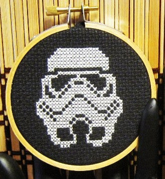 Stormtrooper Threezle - Cross Stitch Pattern Chart