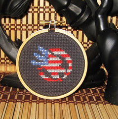 American Eagle Threezle - Cross Stitch Pattern Chart