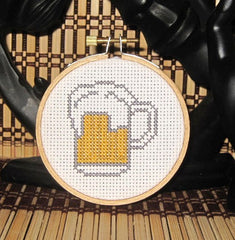 Beer Mug Threezle - Cross Stitch Pattern Chart
