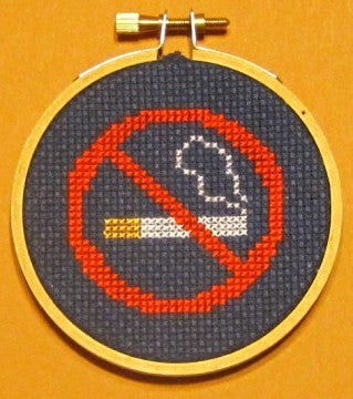 No Smoking Threezle - Cross Stitch Pattern Chart
