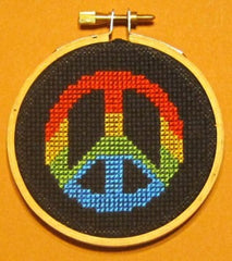 Peace Sign Threezle - Cross Stitch Pattern Chart