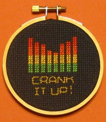 Crank It Up Threezle - Cross Stitch Pattern Chart