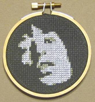 Mick Jagger Threezle - Cross Stitch Pattern Chart