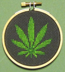 Marijuana Threezle Set - Cross Stitch Pattern Chart