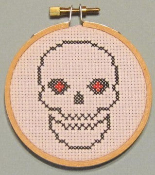 Skull Threezle - Cross Stitch Pattern Chart