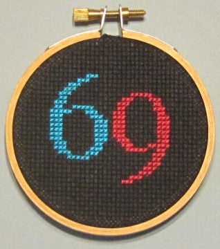 Sixty-Nine Threezle - Cross Stitch Pattern Chart 69