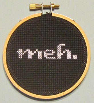 Meh Threezle - Cross Stitch Pattern Chart