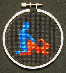 Doggy Style Threezle - Cross Stitch Pattern Chart