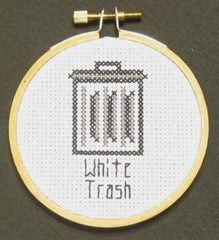 White Trash Threezle - Cross Stitch Pattern Chart