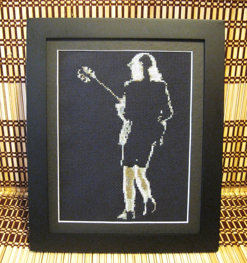 Angus Young - Cross Stitch Pattern Chart