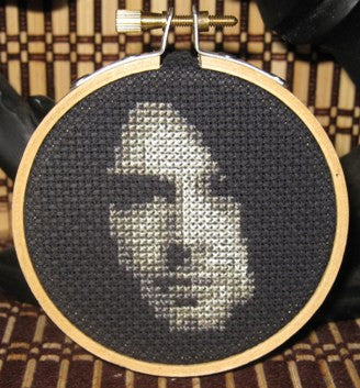 Kurt Cobain Threezle - Cross Stitch Pattern Chart