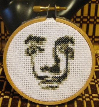Salvador Dali Threezle - Cross Stitch Pattern Chart