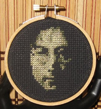 John Lennon Threezle - Cross Stitch Pattern Chart
