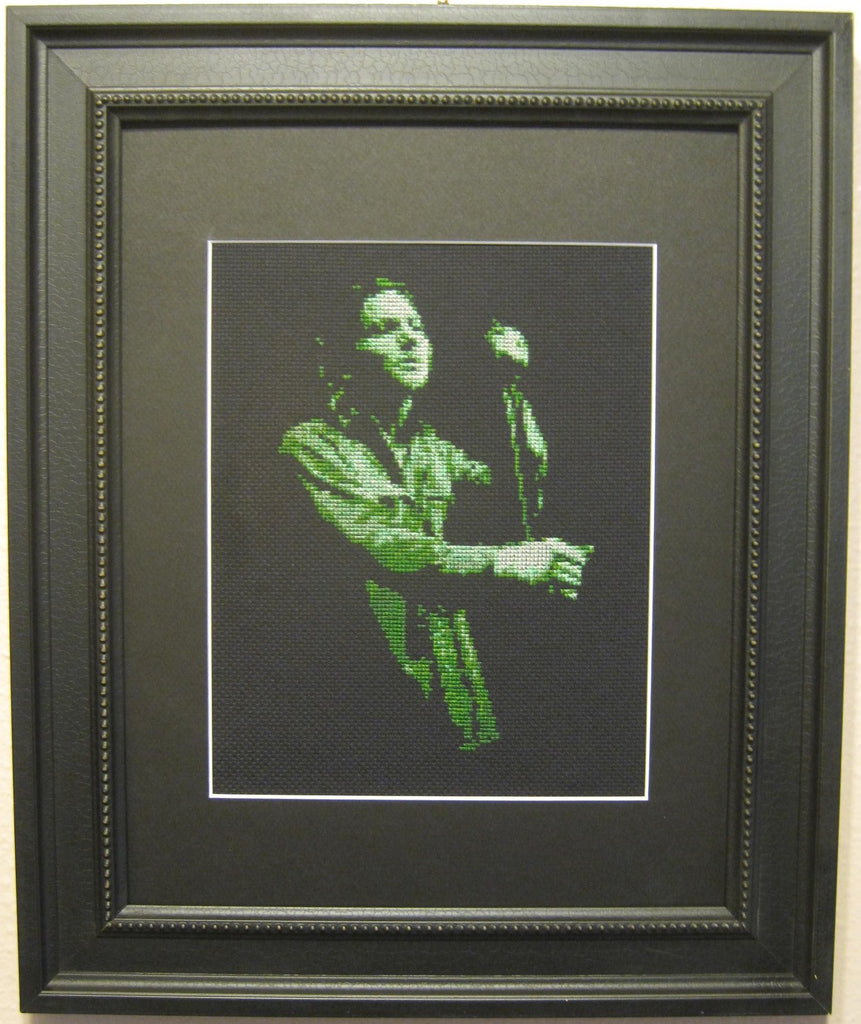 Eddie Vedder Green - Cross Stitch Pattern Chart