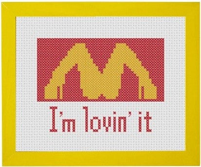 I'm Lovin' It - Cross Stitch Pattern Chart