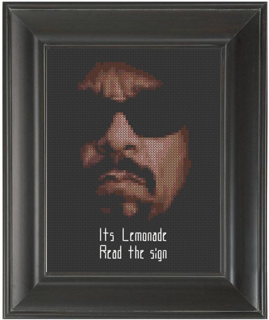 Ice-T Lemonade - Cross Stitch Pattern Chart