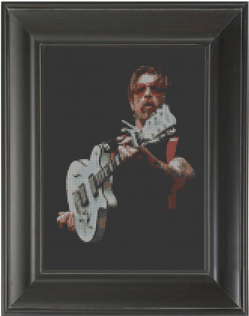Jesse Hughes White Guitar - Cross Stitch Pattern Chart