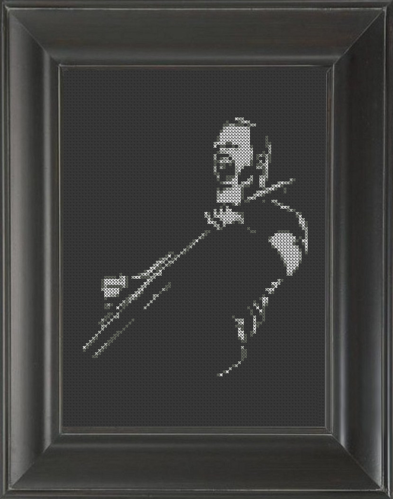 James Hetfield - Cross Stitch Pattern Chart