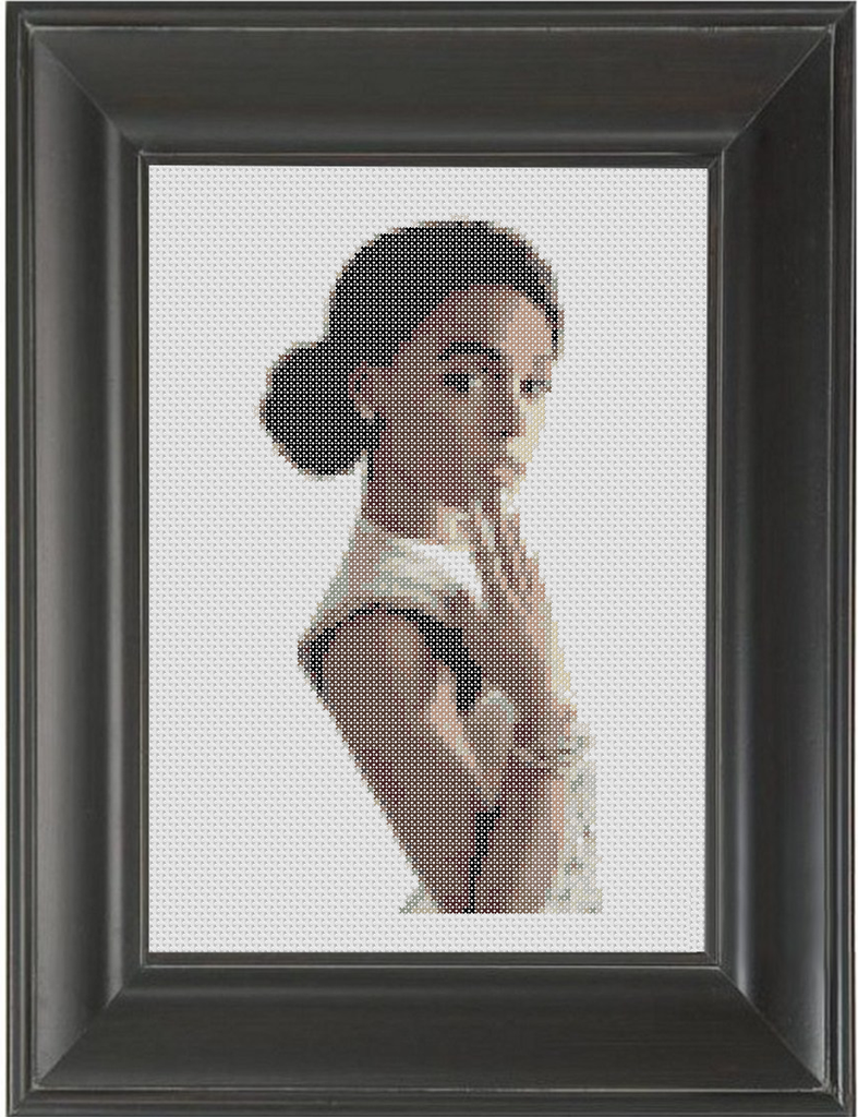 Janelle Monae - Cross Stitch Pattern Chart