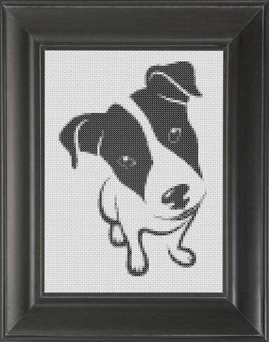 Jack Russell BW - Cross Stitch Pattern Chart