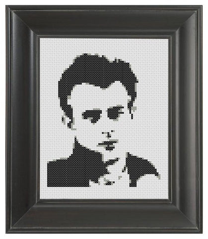 James Dean on White - Cross Stitch Pattern Chart