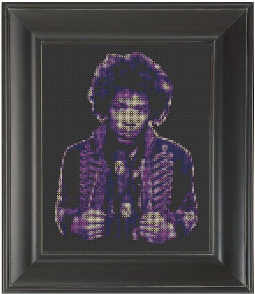 Jimi Hendrix - Cross Stitch Pattern Chart