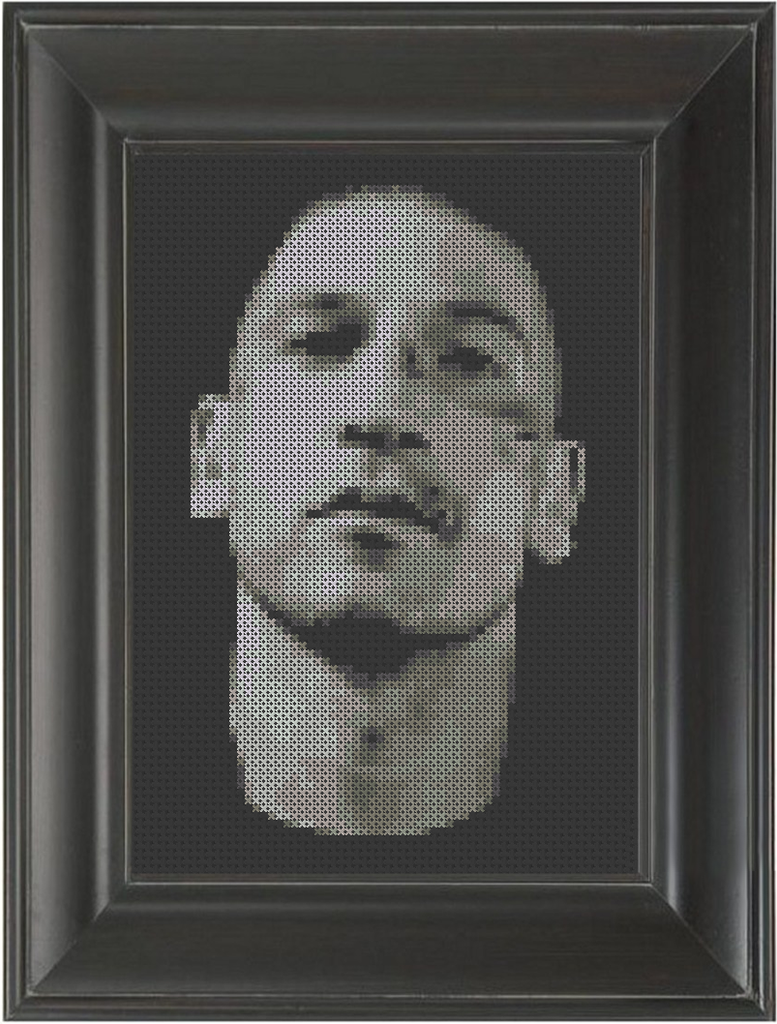 Jon Bernthal BW - Cross Stitch Pattern Chart