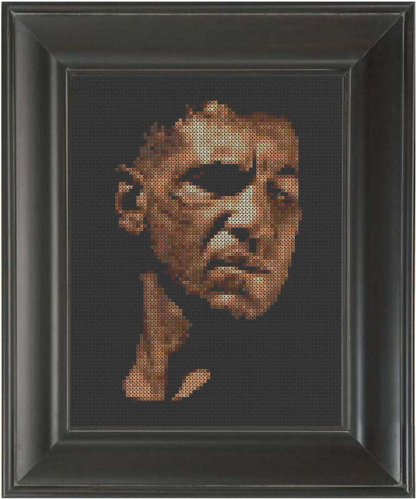 Jon Bernthal Color - Cross Stitch Pattern Chart