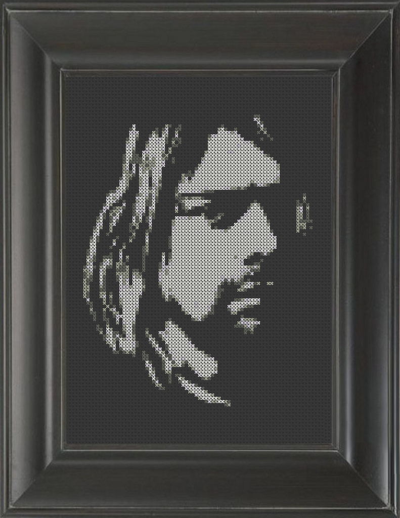 Kurt Cobain 03 - Cross Stitch Pattern Chart