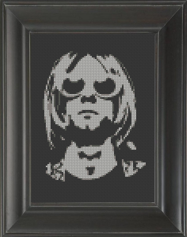 Kurt Cobain 02 - Cross Stitch Pattern Chart
