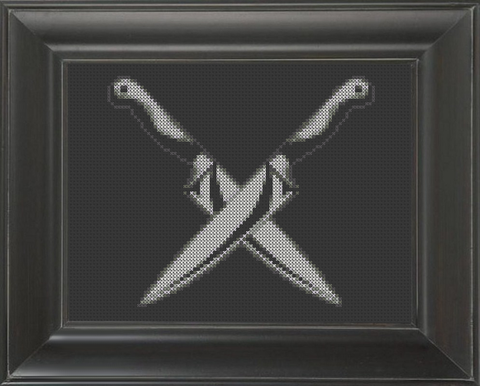Knives Crossed - Cross Stitch Pattern Chart