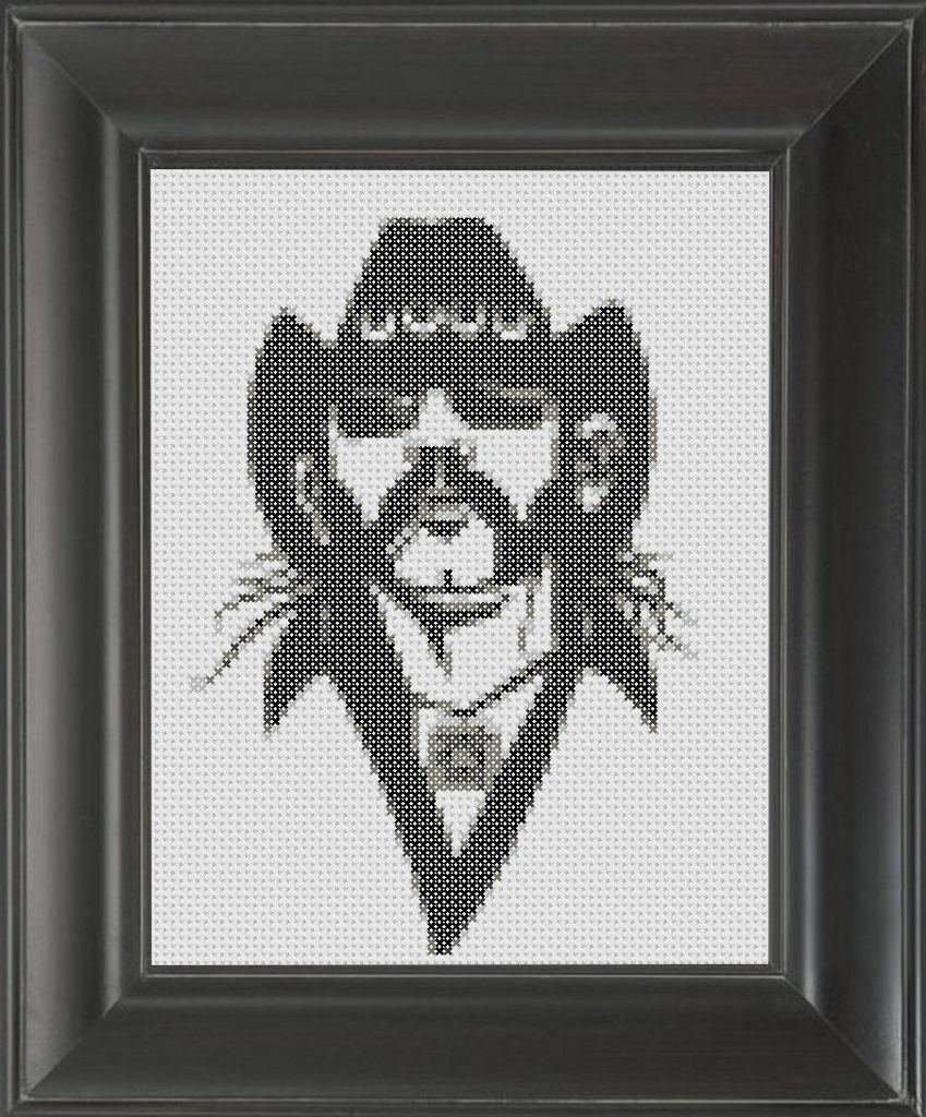 Lemmy BW - Cross Stitch Pattern Chart