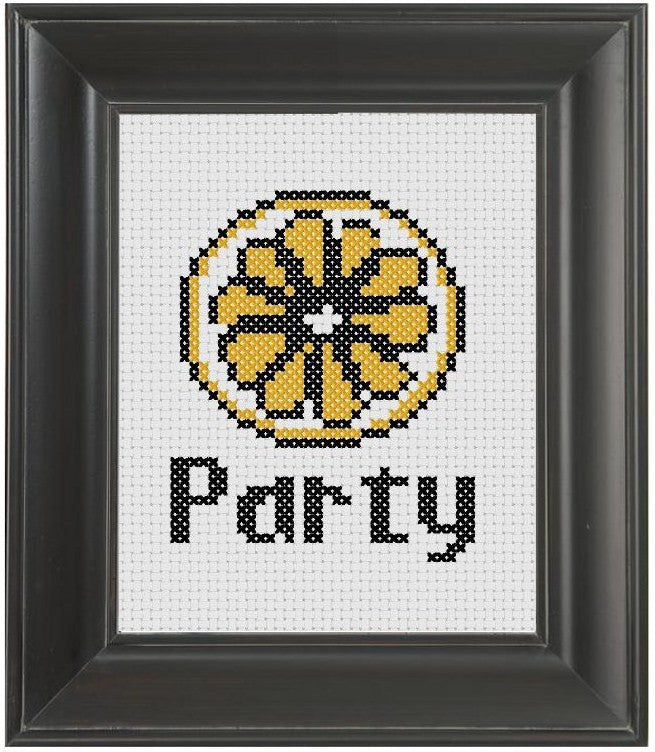 Lemon Party - Cross Stitch Pattern Chart