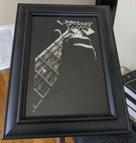 Guitar Fretboard - Cross Stitch Pattern Chart