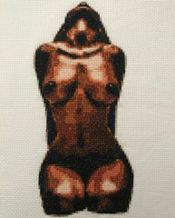 Sun Worship on White - Cross Stitch Pattern Chart Erotic Nude Sexy NSFW