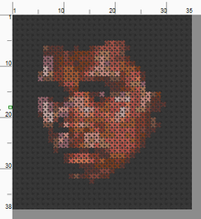 Muhammad Ali Threezle - Cross Stitch Pattern Chart