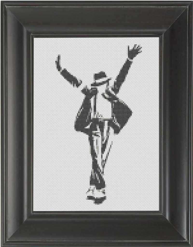 Michael Jackston BW 02 - Cross Stitch Pattern Chart