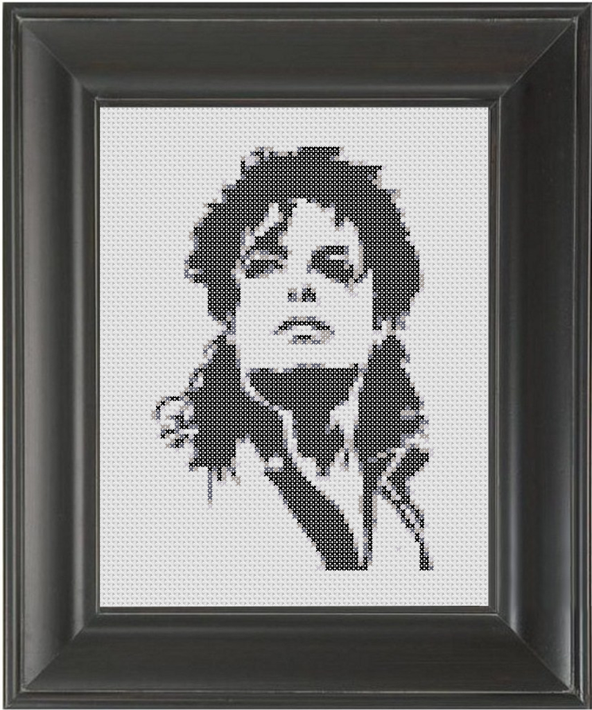 Michael Jackston BW 04 - Cross Stitch Pattern Chart
