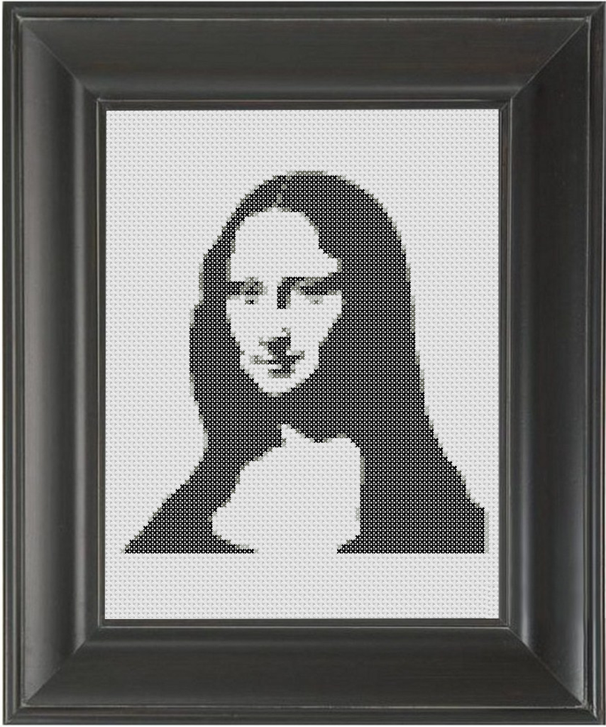 Mona Lisa BW - Cross Stitch Pattern Chart