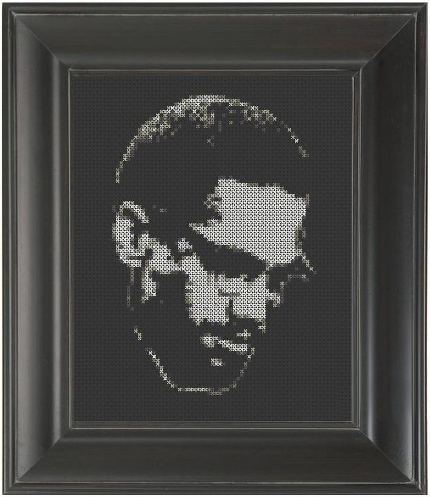 Malcolm X - Cross Stitch Pattern Chart