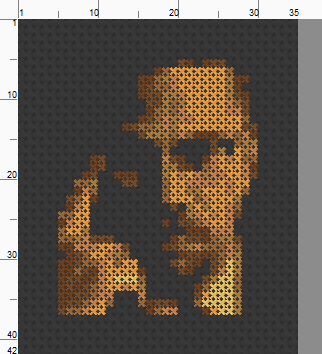 Malcolm X Threezle - Cross Stitch Pattern Chart