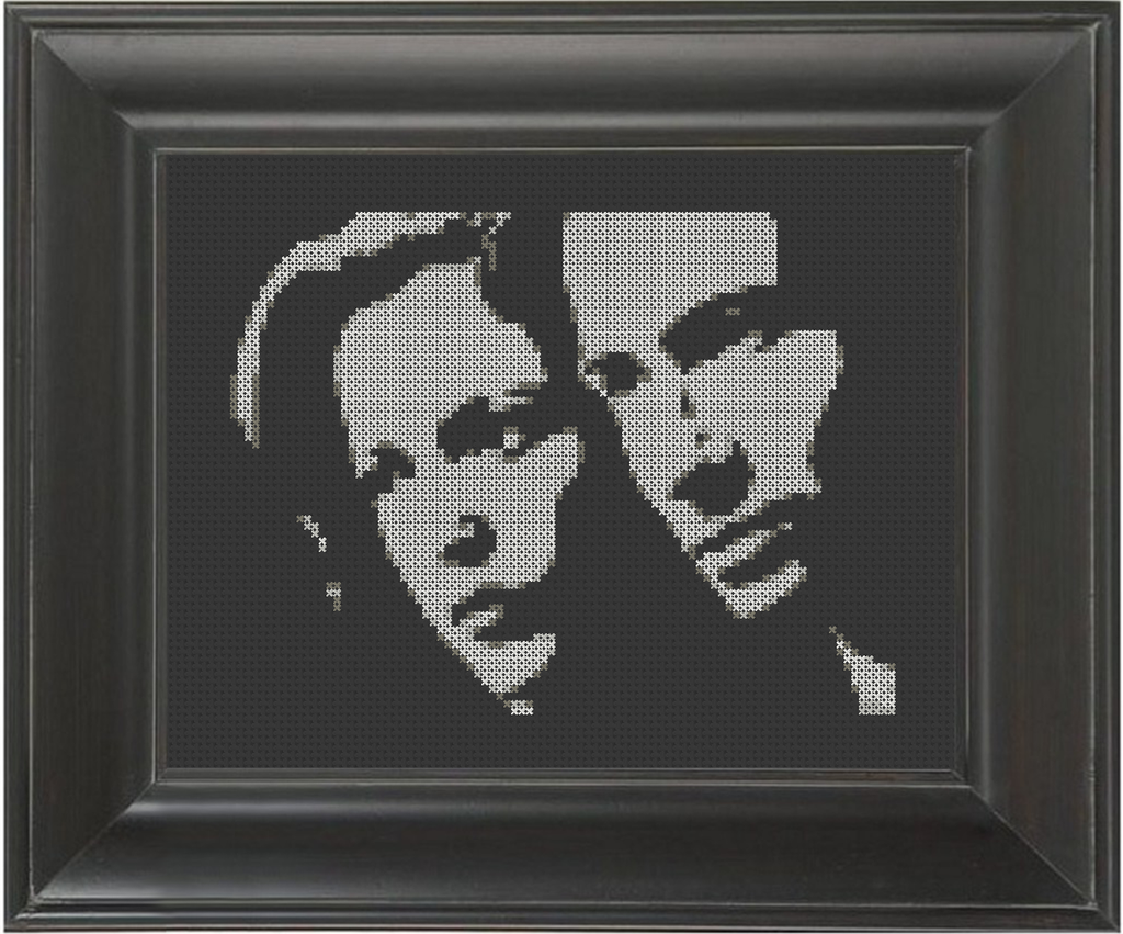 Mulder and Scully - Cross Stitch Pattern Chart