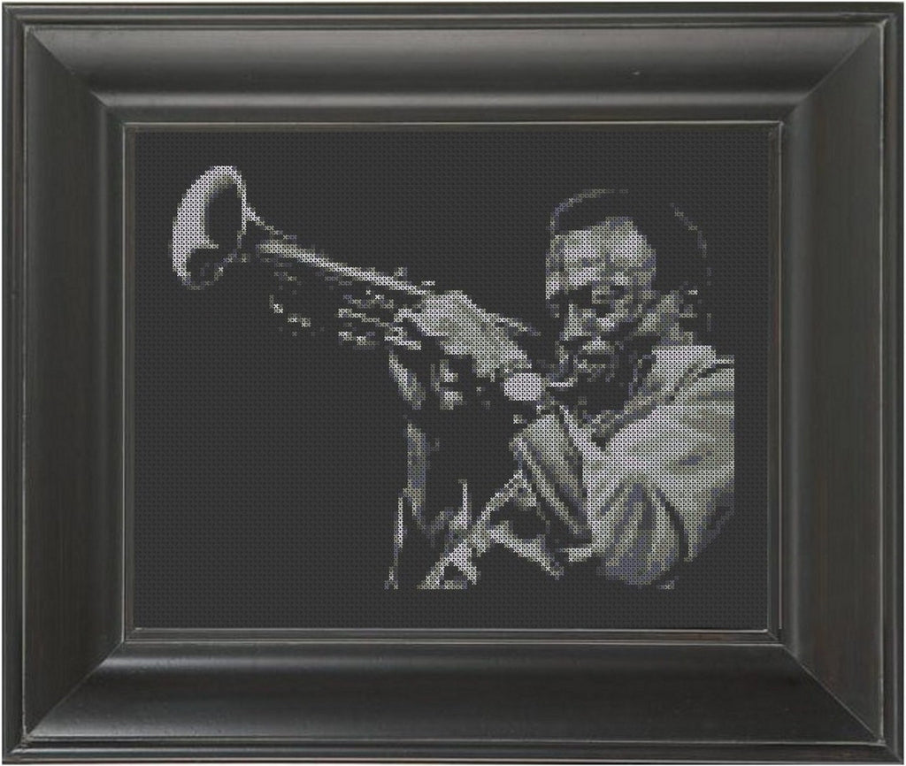 Miles Davis - Cross Stitch Pattern Chart