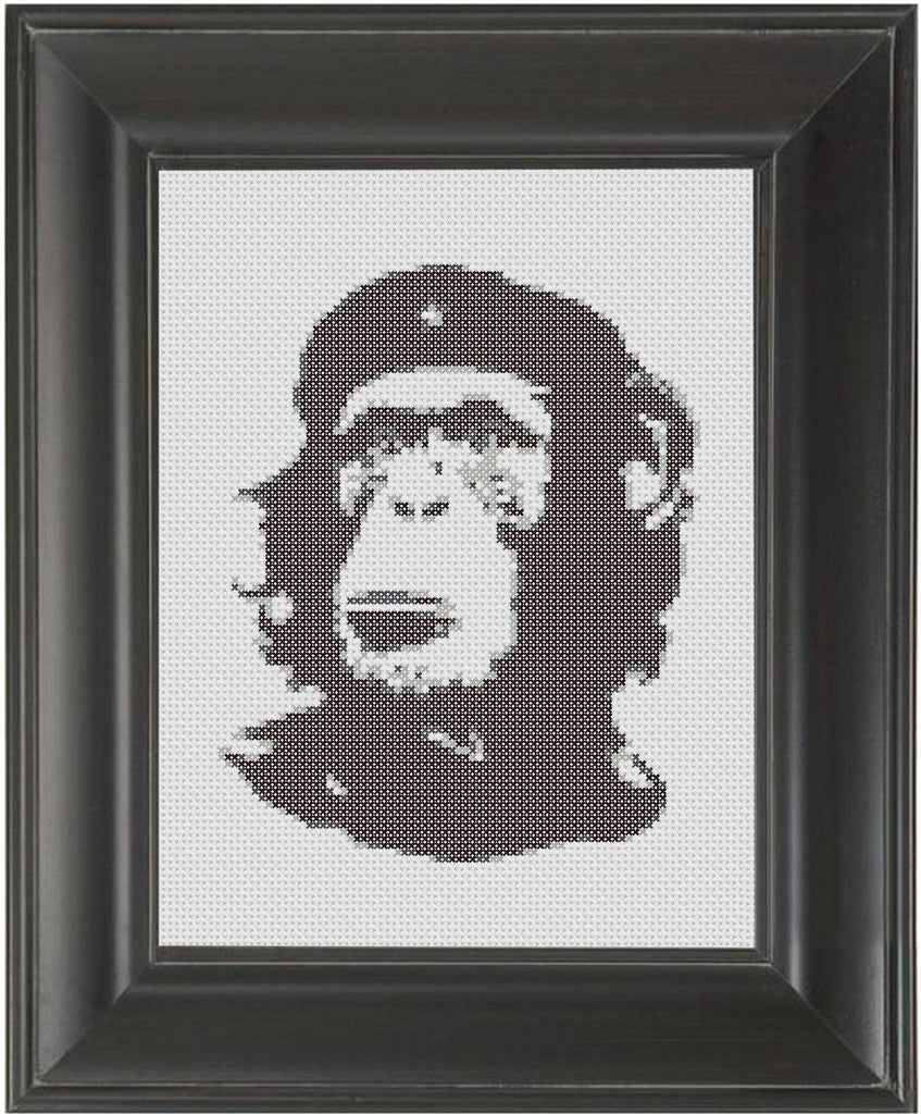 Monkey Che Guevara - Cross Stitch Pattern Chart