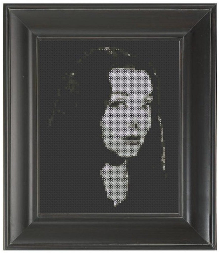 Morticia Addams - Cross Stitch Pattern Chart
