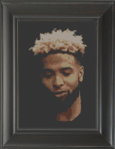 Odell Beckham Jr. - Cross Stitch Pattern Chart