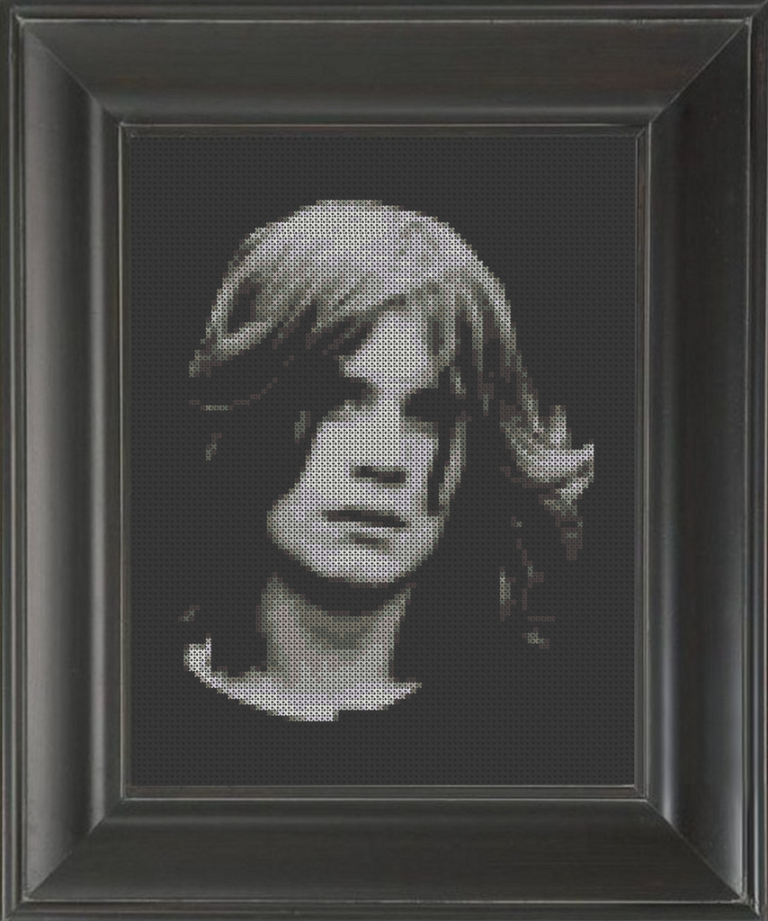 Ozzy Osbourne Young - Cross Stitch Pattern Chart
